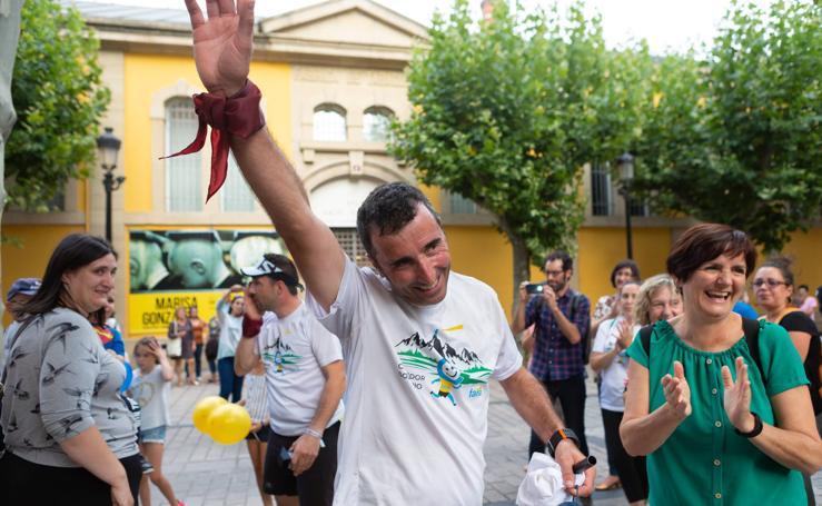 Así ha sido la llegada del Corredor Solidario a Logroño
