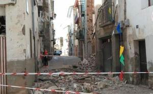 Las lluvias derriban una casa en estado de ruina en Murillo de Río Leza