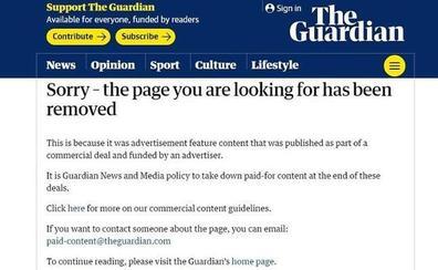 Ceniceros también pagó por salir en 'The Guardian'