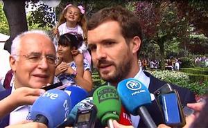 Casado acusa en Logroño al Gobierno de emplear los recursos públicos para hacer campaña