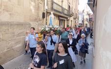 Enfermos de La Rioja y País Vasco han peregrinado este domingo a Santo Domingo