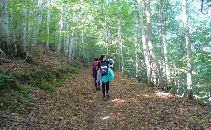 Marcha 'Caminando, ¡por la vida! celebrada en Ezcaray