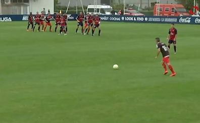 El gol de la UDL al Osasuna B