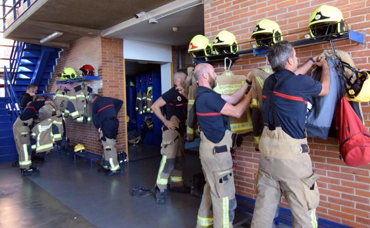 Puertas abiertas en el parque de bomberos de Logroño