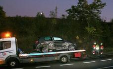 Accidente en la LR-113, a la altura del cruce de Cárdenas