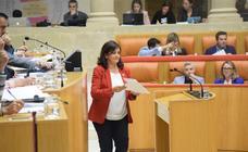 Sesión plenaria en el Parlamento de La Rioja