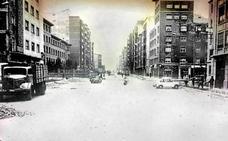 Asfaltando la avenida de Jorge Vigón