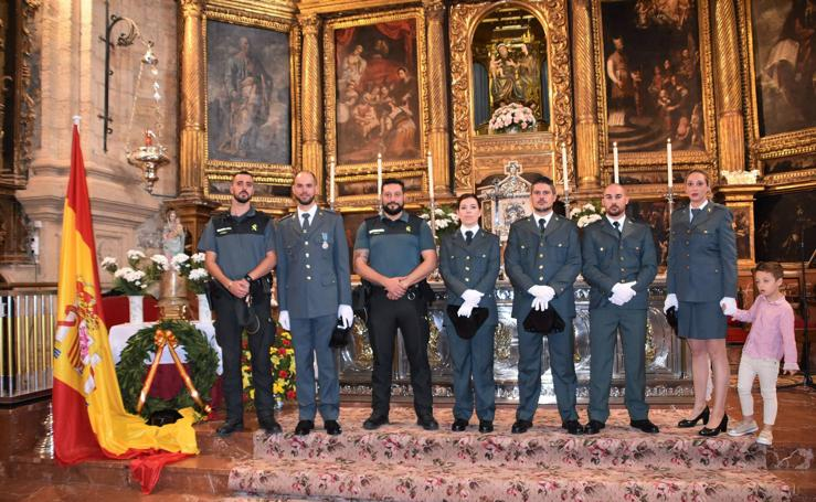 Ceremonia de la Guardia Civil en Cervera