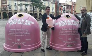 Logroño cuenta con cuatro contenedores rosas para luchar contra el cáncer de mama