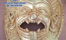 Intervenida una máscara de oro expoliada en Colombia que iba a ser vendida en España por 200.000 euros