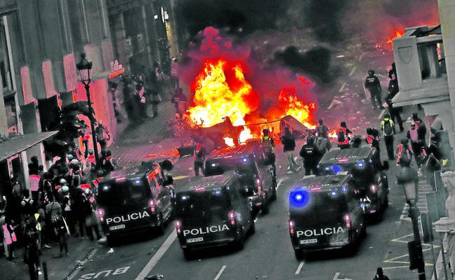 Campo de batalla en la Barcelona turística
