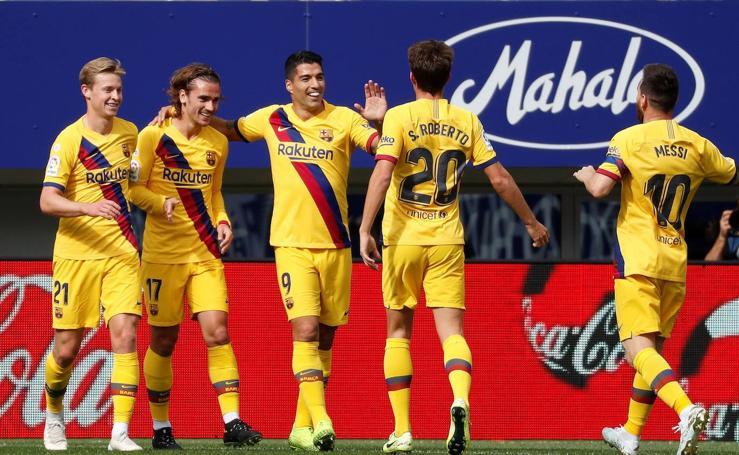 El Barcelona disfruta ante su amigo azulgrana