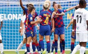 Lógica derrota del Logroño ante el líder Barcelona