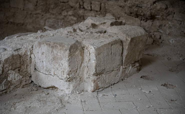 Aparecen restos del convento de los Carmelitas bajo el Sagasta