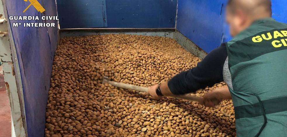 Un detenido por robar más de 12 toneladas de almendra en La Rioja Baja