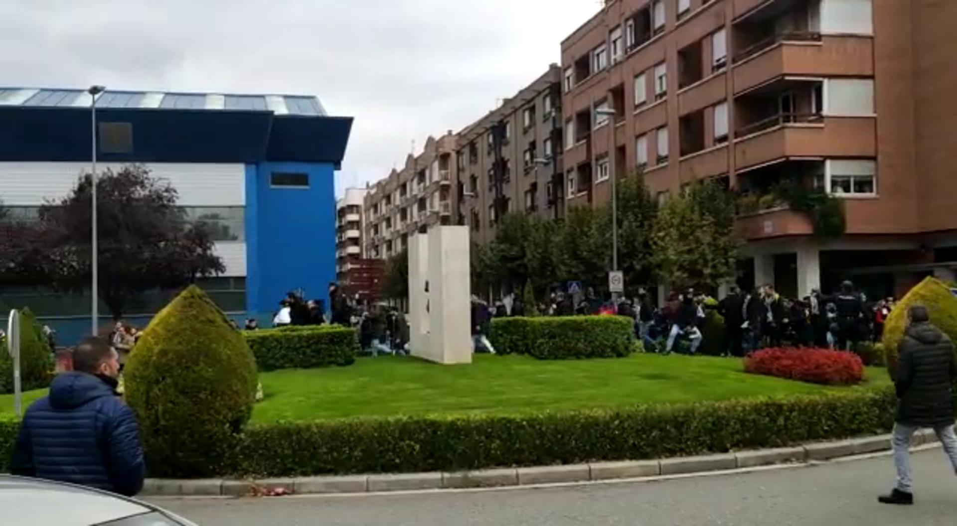 Tensión entre aficionados de la UDL y del Burgos