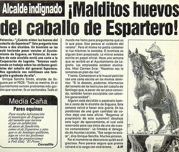 En el siglo XX, fue el caballo de Espartero el que se llevó la fama