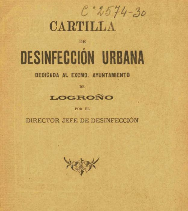 Cartilla de desinfección urbana dedicada al Ayuntamiento de Logroño