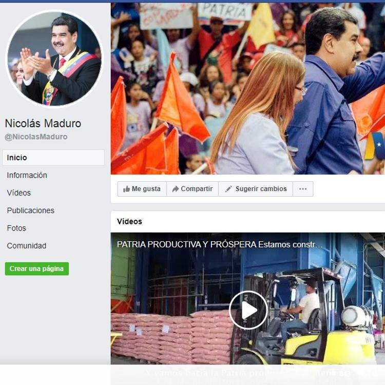 Facebook bloquea por un mes la cuenta de Maduro por «desinformar» sobre covid