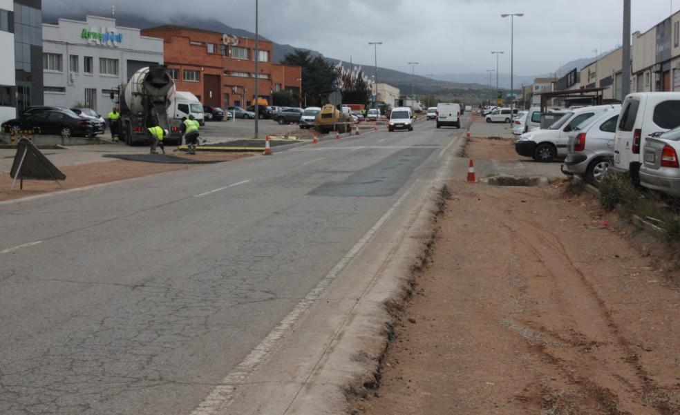 La reforma del polígono Planarresano de Arnedo se extenderá hasta finales de julio