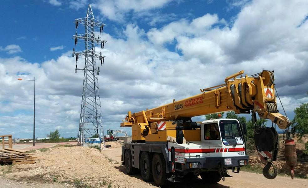 Inicio de las obras en la subestación de La Senda en Alfaro
