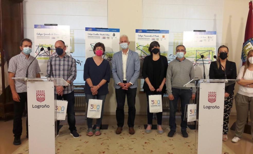 El alcalde de Logroño entrega los diplomas a los centros que participaron en 'Metrominuto escolar'