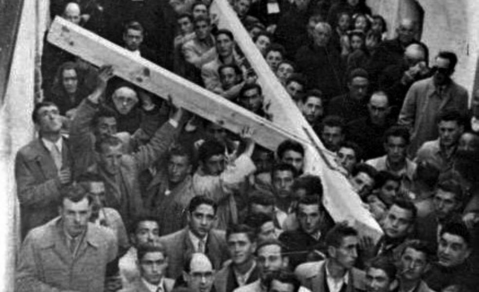 La «Cruz de los Mozos» de Alfaro en 1950