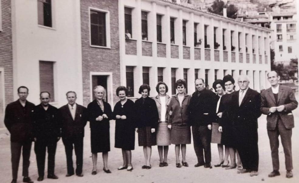 La Retina: maestros de Cervera del Río Alhama en el año 1965