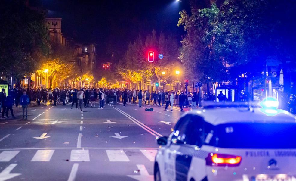 Los ocho acusados por los disturbios del 31 de octubre en Logroño se sientan este lunes en el banquillo