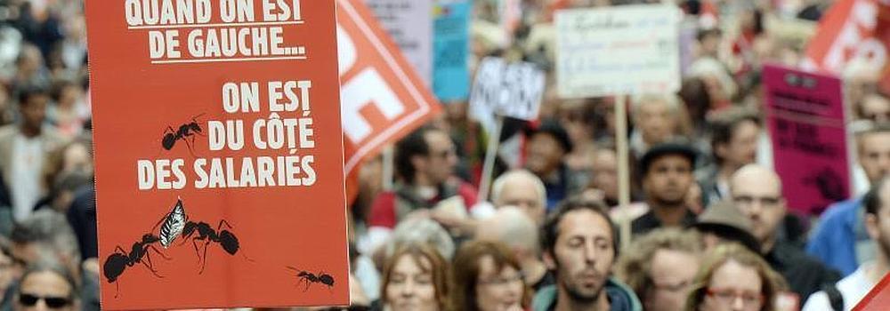 Miles de personas piden a Valls el fin de la austeridad