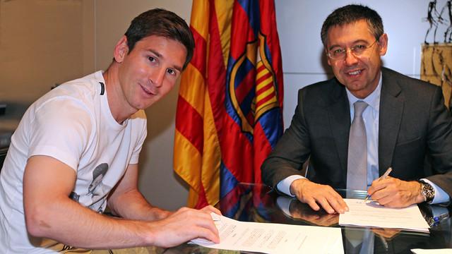 Messi asegura que si no siente el cariño del Barça buscará «una solución»