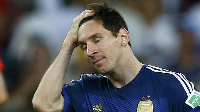 El cielo le queda lejos a Messi