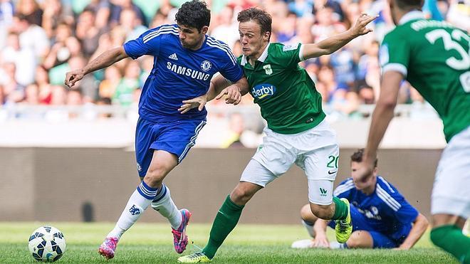 Diego Costa se entrena en el Chelsea