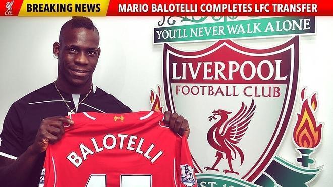 Balotelli ya posa como jugador del Liverpool
