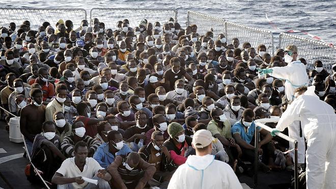 Rescatados 1.656 inmigrantes este fin de semana en las costas italianas
