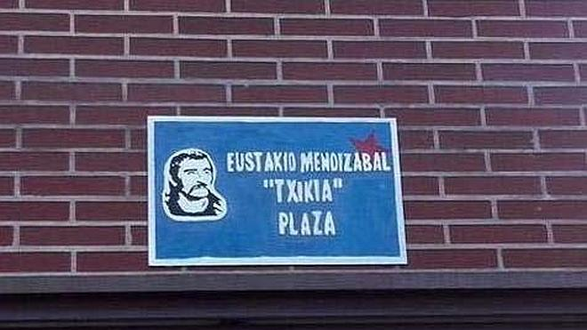 El PP de Getxo solicita la retirada inmediata de la placa del etarra 'Txikia'