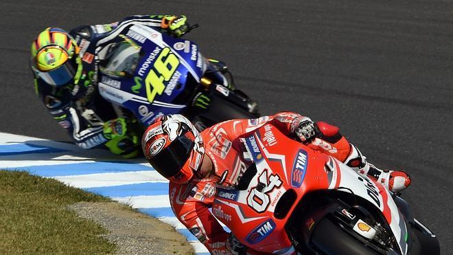 Dovizioso sorprende con la 'pole' de MotoGP