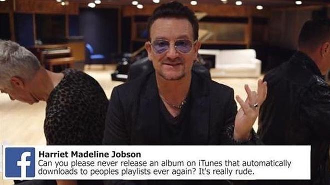 Bono se disculpa por colar el nuevo disco de U2 en las bibliotecas de iTunes