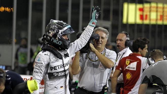 Rosberg da su penúltima dentellada