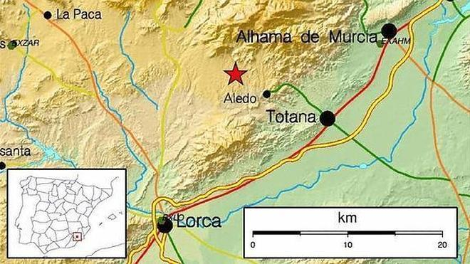 Más de un centenar de llamadas por un terremoto y una réplica de madrugada en Lorca