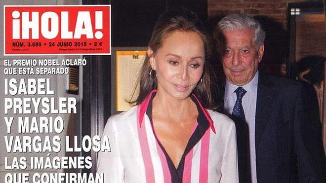 Isabel Preysler y Vargas Llosa dan la cara