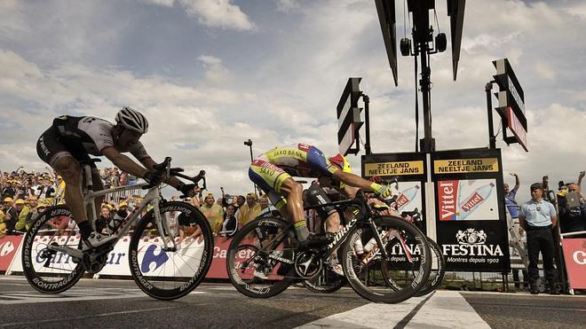 Contador y Froome sacan el abanico