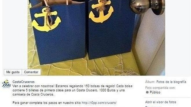 Fraude masivo en Facebook de una empresa haciéndose pasar por Costa Cruceros