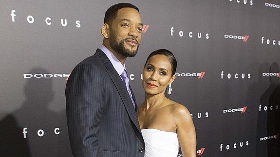 Will Smith, junto a su esposa. /