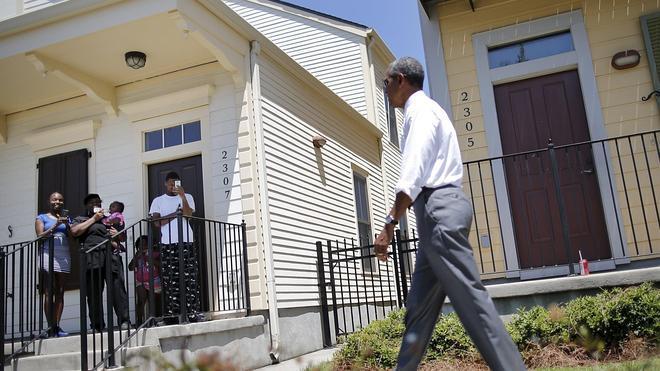 Obama celebra el renacimiento de Nueva Orleans, diez años después del 'Katrina'