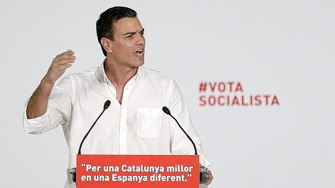 Sánchez: «El 27-S diremos adiós al hijo político de Pujol y en diciembre, al amigo de Bárcenas»
