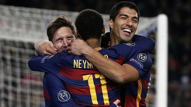 Messi, Neymar y Suárez, más goles que el Real Madrid