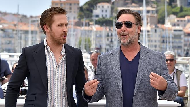 Russell Crowe y Ryan Gosling reparten risas y estopa en Cannes