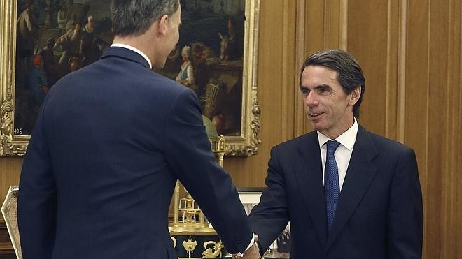 El Rey recibe por primera vez a Aznar en Zarzuela