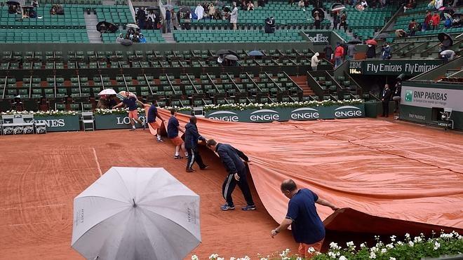 Suspendida la jornada de Roland Garros a causa de la lluvia